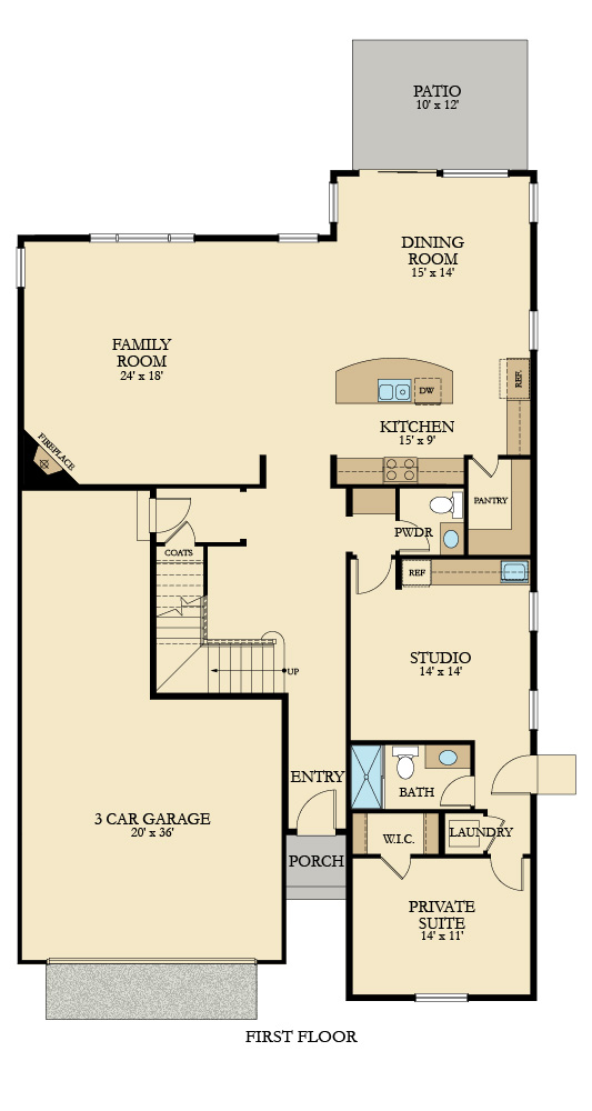 Lennar Bainbridge Main Floorplan