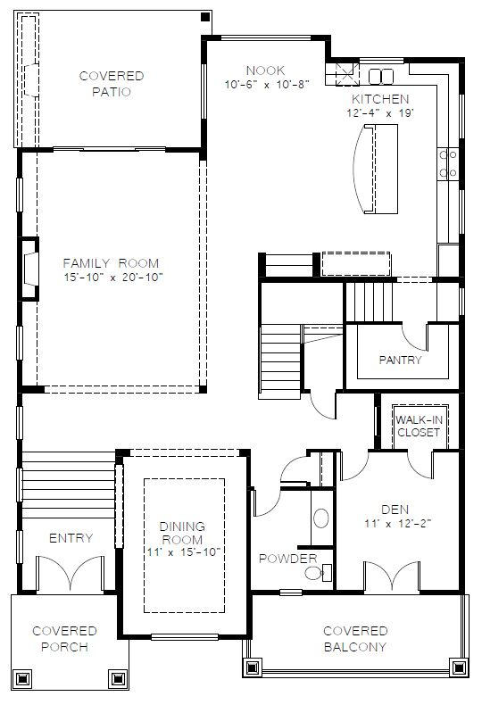 Azure Northwest Homes Silver Star Main Floorplan