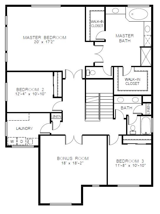 Azure Northwest Homes Silver Star Upper Floorplan