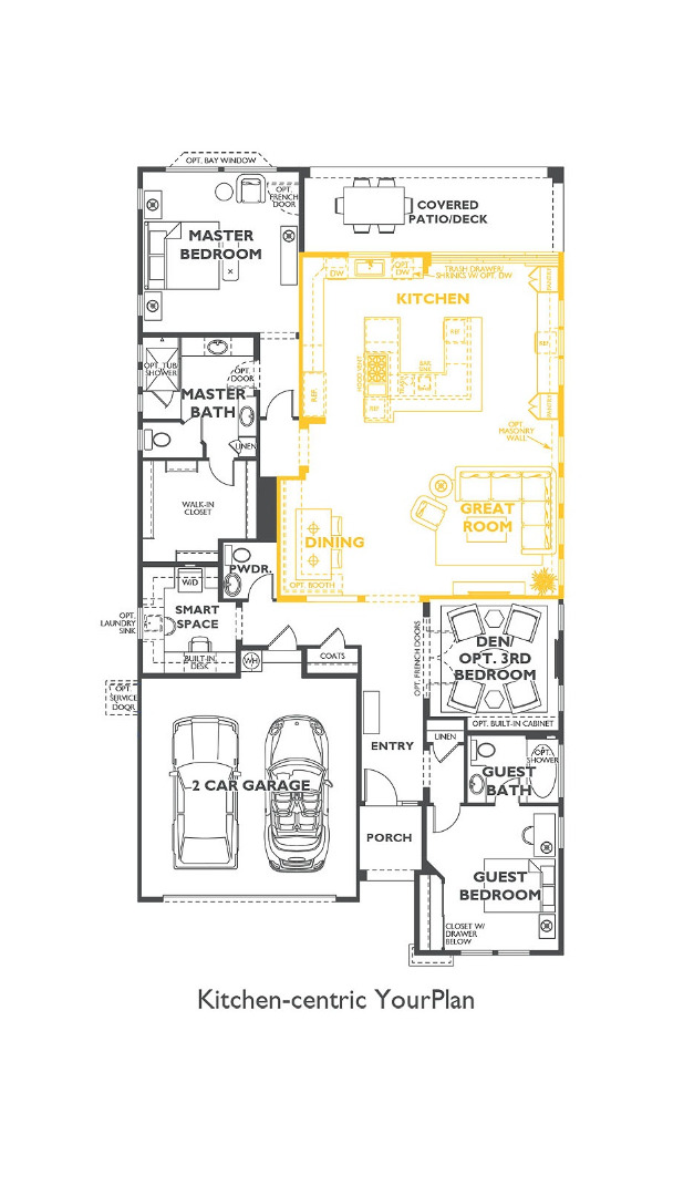 Trilogy Elate Kitchen Centric Floor Plan