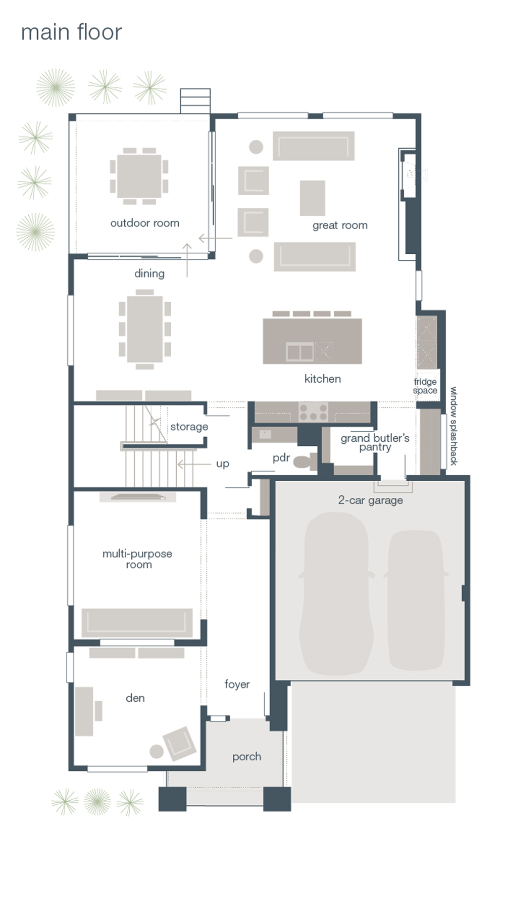 MainVue Homes Astoria Floor Plan Main Floor