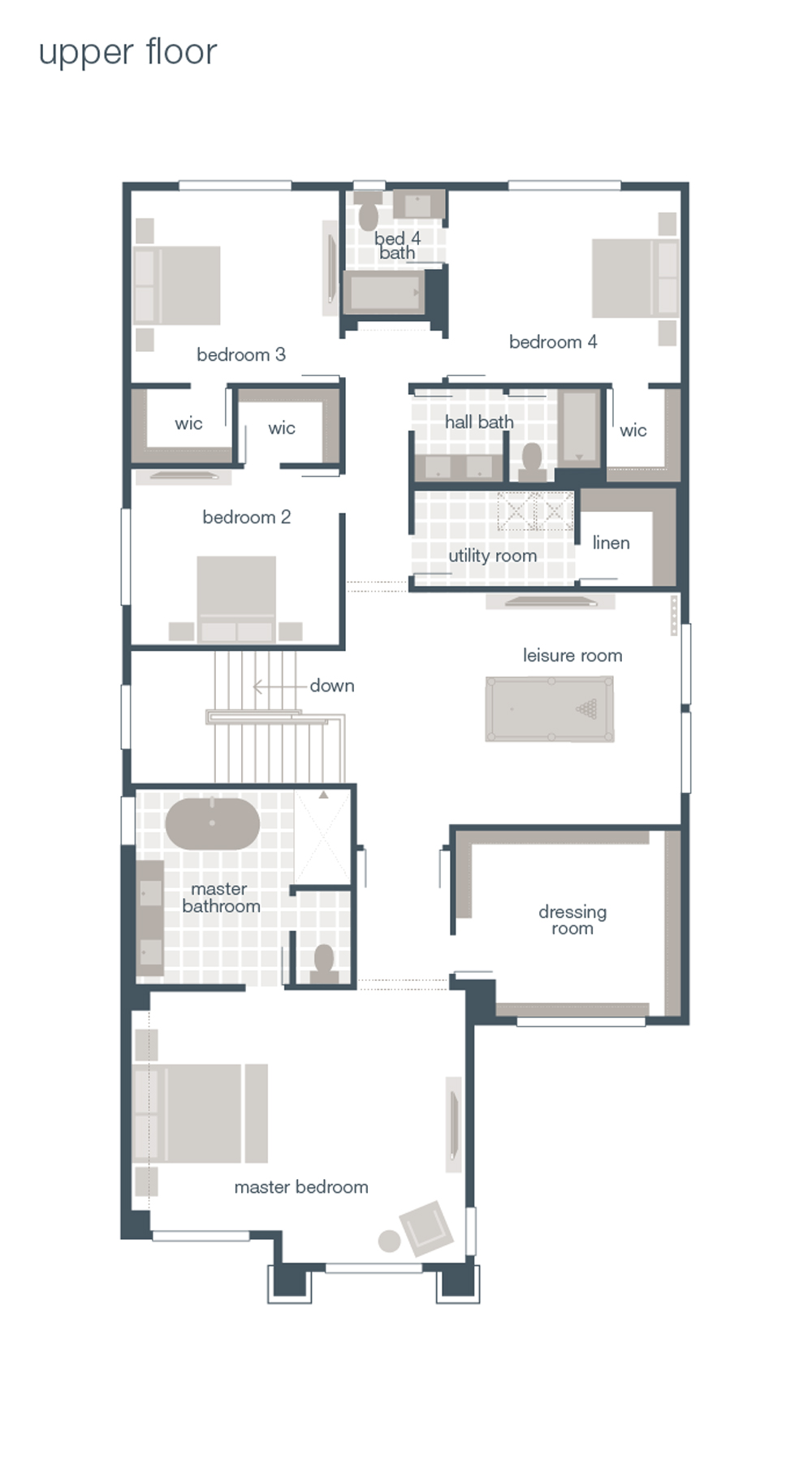 MainVue Homes Astoria Upper Floorplan