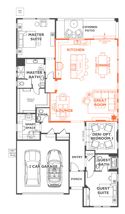 Trilogy Elate Entertainment Centric Floor Plan