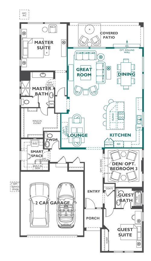 Trilogy Elate A Outdoor Centric Floor Plan