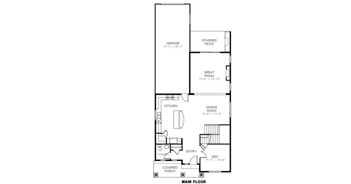 Azure Northwest Homes Melmont Elev A Main Floorplan