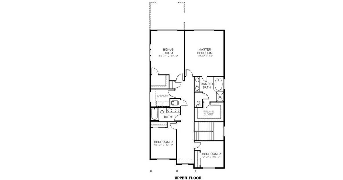 Azure Northwest Homes Elev A Upper Floorplan