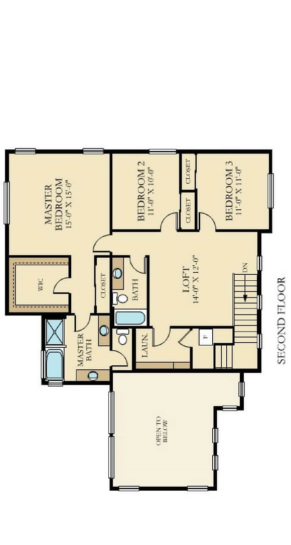 Lennar Upper Floorplans