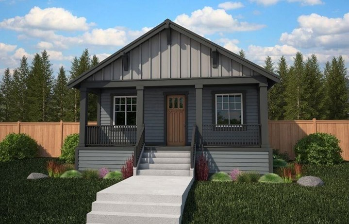 Azure NW Homes, Seward Model, A Elevation