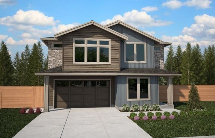 Brookstone Homes Magnolia Model Elevation A