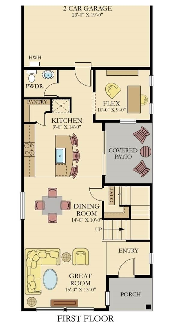 Lennar Homes Briarwood Floor Plan Main Floor
