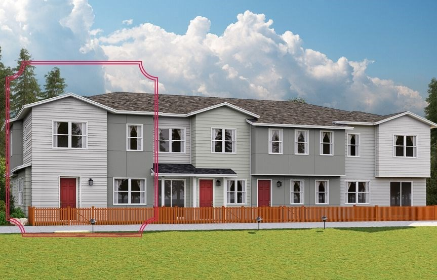 Lennar Townhomes, Endeavor Plan, Contemporary Elevation