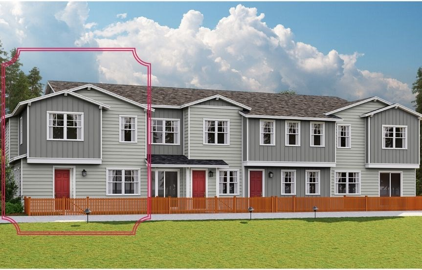Lennar Townhomes, Endeaver Plan, Traditional Elevation