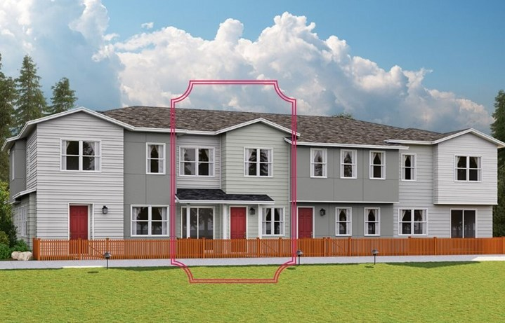 Lennar Townhomes, Apollo Plan, Contemporary Elevation