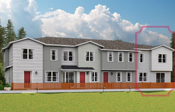 Lennar Townhomes, Discover Plan, Contemporary Elevation