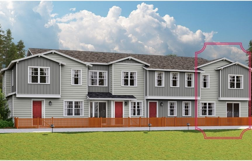 Lennar Townhomes, Discovery Plan, Traditional Elevation