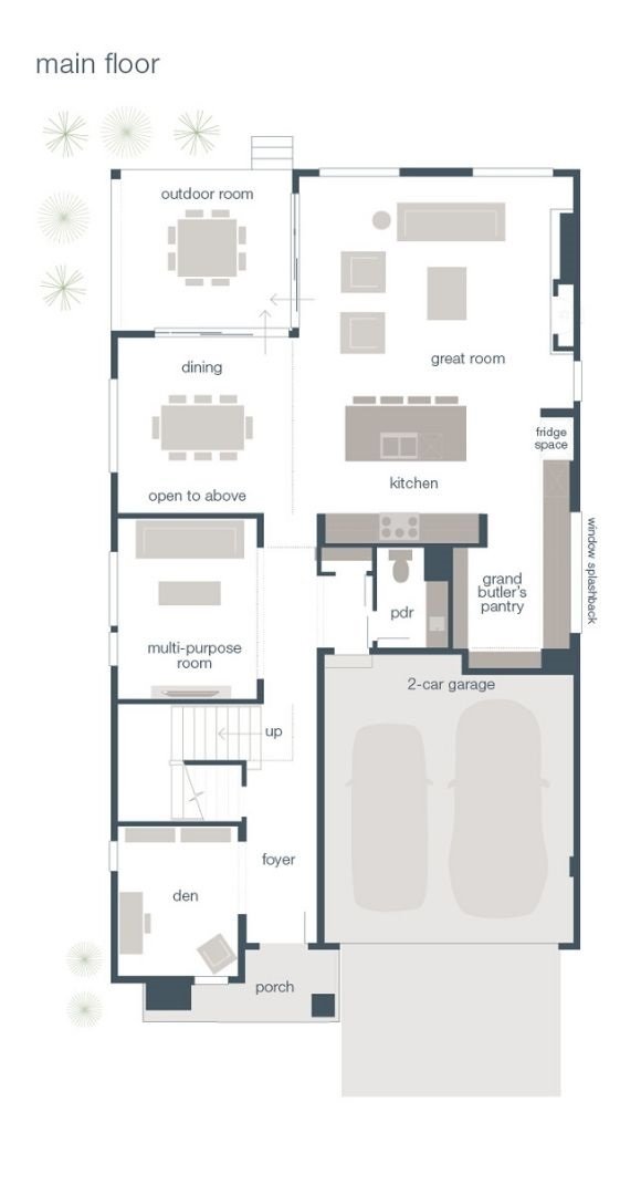 MainVue Homes, Amato Main Floor Plan
