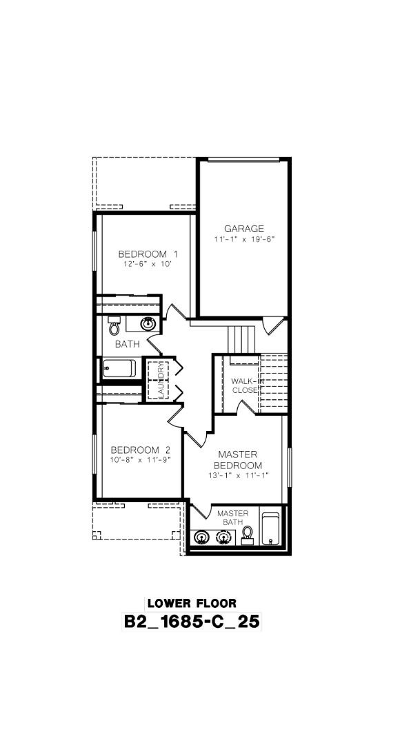 Azure NW Homes, Wingehaven Floor Plan, Lower Floor