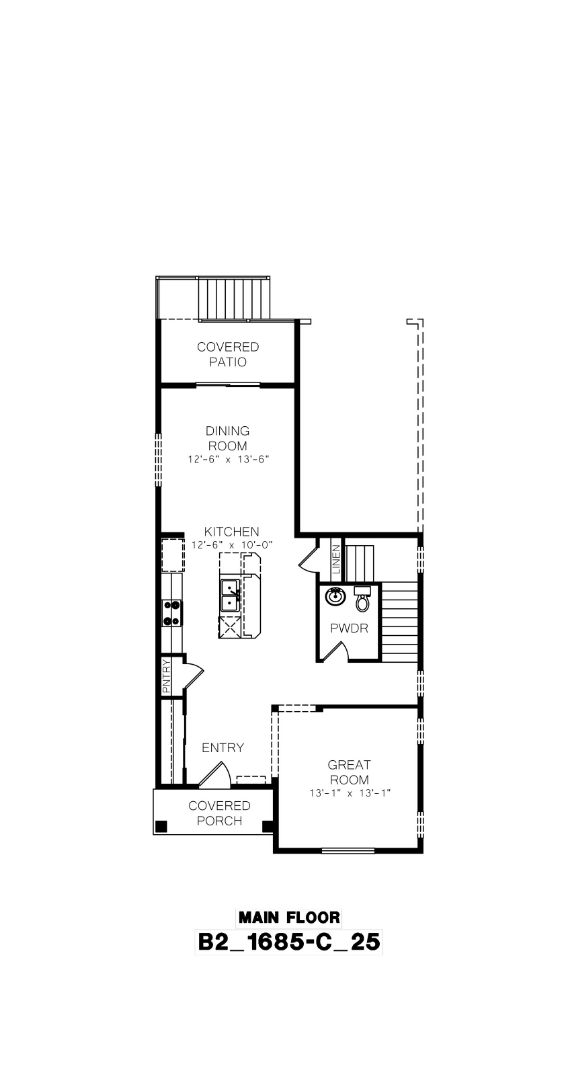 Azure NW Homes, Wingehaven Floor Plan, Main Floor