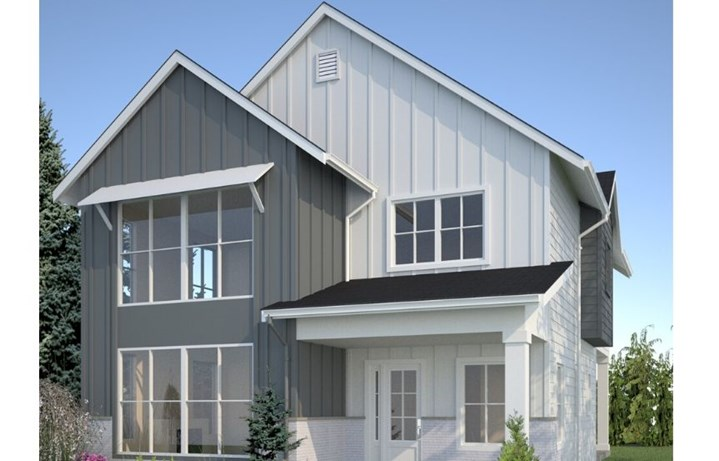 Noffke Homes, Glacier Plan, Farmhouse Rendering
