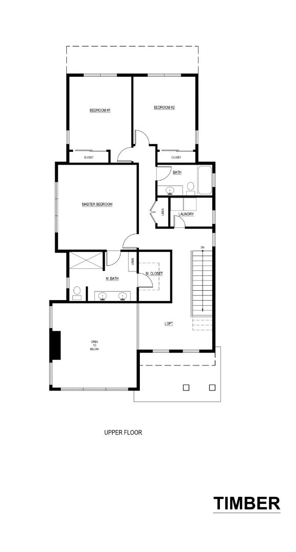 Noffke Homes, Timber Floor Plan, Upper Floor