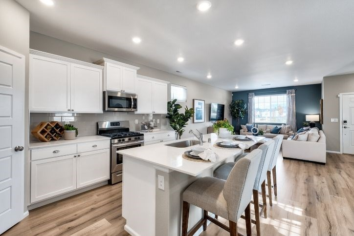 Bright white kitchen in a Lennar home